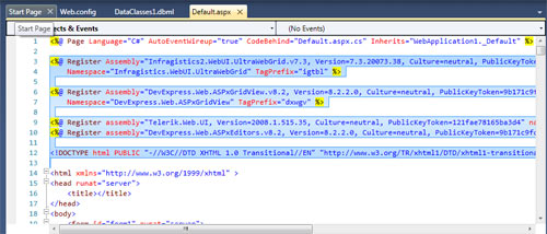 Visual Studio 2010 Code Window